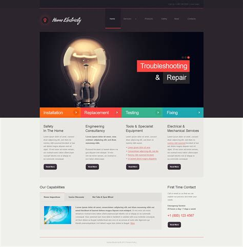 theme joomla bootstrap home electricity company joomla template 46039