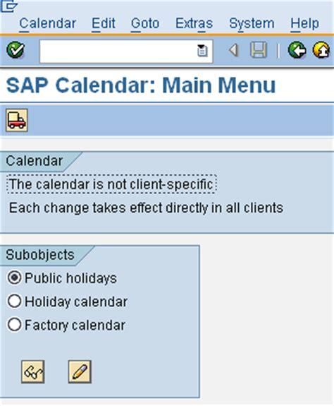 sap calendar master netweaver technology scn wiki