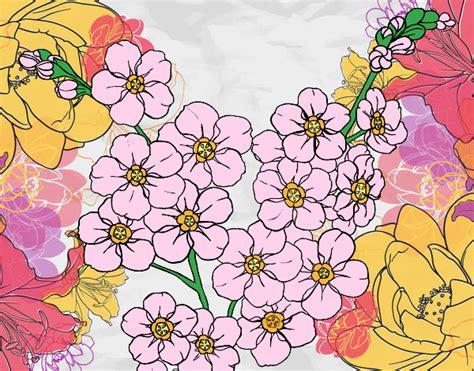 ciliegio fiori disegno fiore di ciliegio colorato da utente non