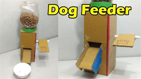 how to crate an at how to make feeder at home food dispenser from cardboard my crafts and diy