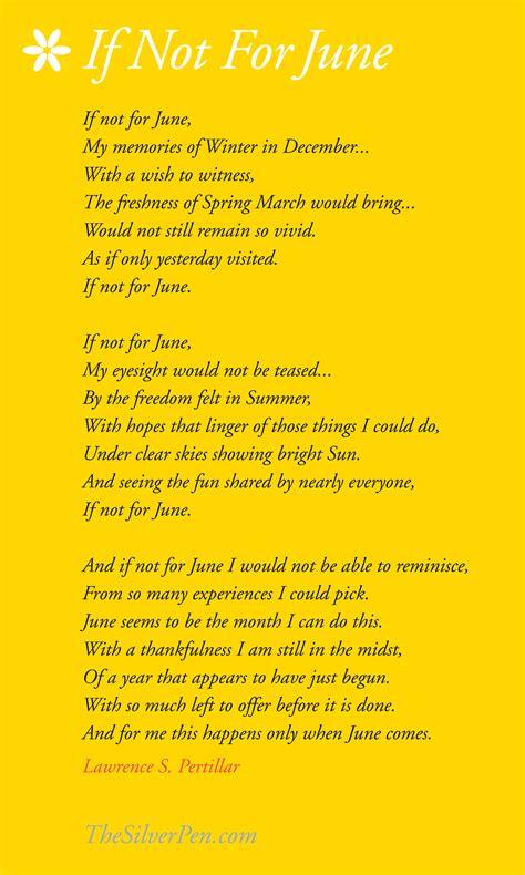 june poems  quotes quotesgram