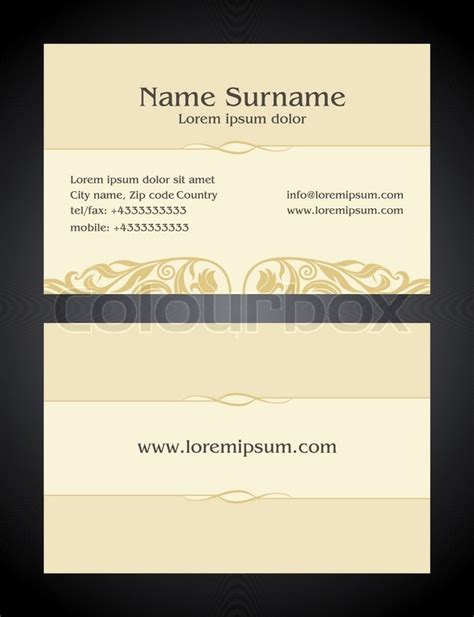 business card layout template for front and back printing business card creative design vintage style