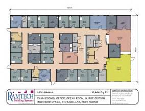 Clinic Floor Plan Exles 6444 Sf Clinic Floor Plan Ramtech Building Systems