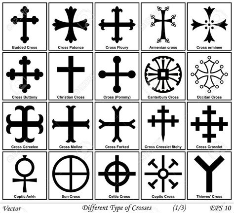 different cross tattoos different types of crosses and their meanings shapes of