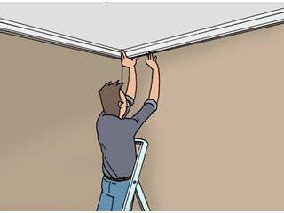 Comment Poser Des Moulures En Polystyrene Au Plafond by Fixer Une Moulure Au Plafond Plafond Livios