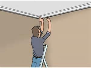 fixer une moulure au plafond plafond livios