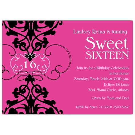 Sweet 16 Invitations by Sweet 16 Invitation Quotes Quotesgram