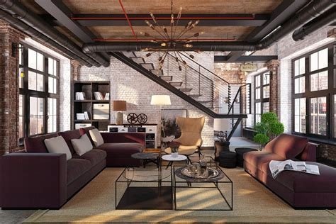 industrial living room design ideas archivizer