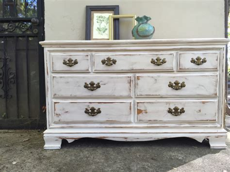 Distressed Dresser White by Painted Dresser Distressed Antiqued Sideboard Bedroom White