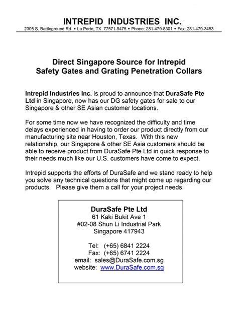 Introduction Letter For Distributorship intrepid durasafe shop