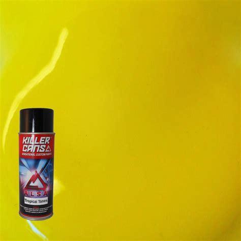 alsa refinish 12 oz tropical tones lemon yellow killer cans spray paint kc tt 02 the home depot