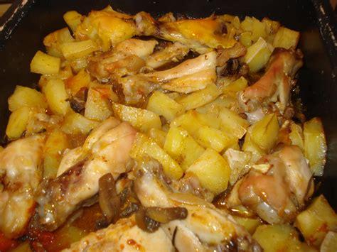 come cucinare pollo al forno alette di pollo al forno con patate e funghi