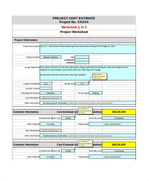 template cost analysis excel sample documents in cost excel