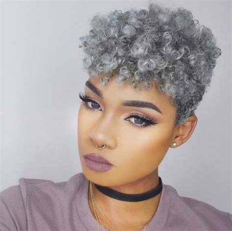 Pixie Haircut Gray Hair – @ hairbymaci ? Grey #greyhair Hair I love ...