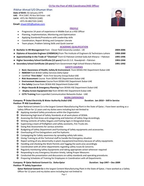 Safety Manager Resume by Cover Letter Safety Manager Resume Resumes Sles