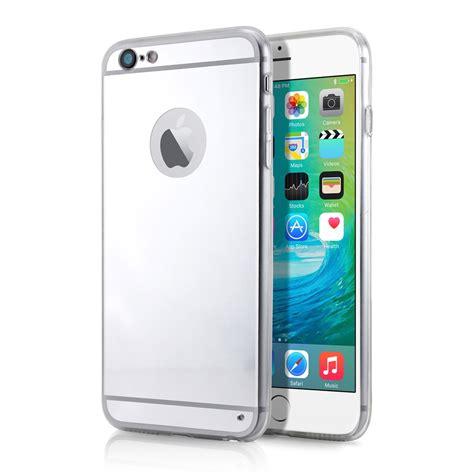 Luxury Mirror For Iphone 66s Cover Handphone Murah luxury aluminum ultra thin mirror back metal cover