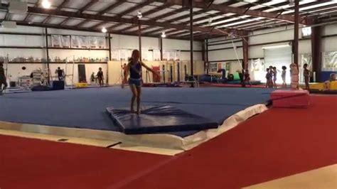 layout half gymnastics gymnastics level 7 new skills practice layout half emily