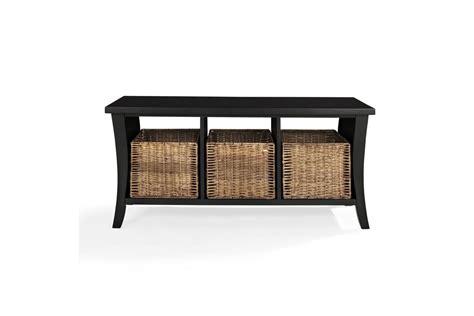 black entryway bench wallis entryway storage bench in black by crosley at