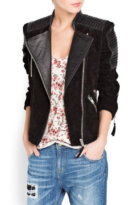 Comby Leather Jacket mango combi leather biker jacket we want