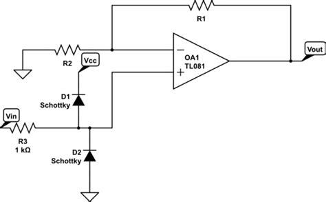 zener diode lifier op zener diode protection on input of op electrical engineering stack exchange