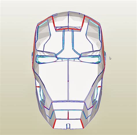 iron mask template dali lomo iron 42 costume helmet diy cardboard
