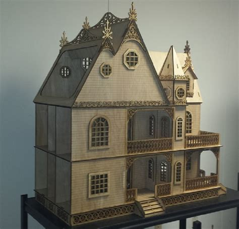 large doll house kits jasmine gothic victorian 1 12 scale dollhouse large kit