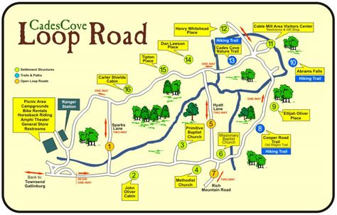 cades cove map cades cove loop road smokies guide
