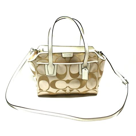 coach swing bag coach taylor signature mini crossbody swing bag ivory