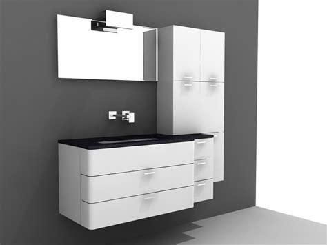 modern single sink bathroom vanity  model ds max