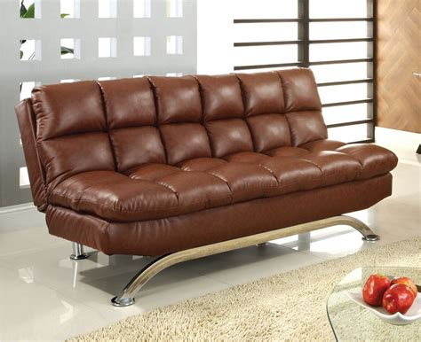 saddle brown leather sofa saddle brown leather futon sofa comfy pillow top