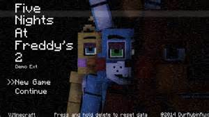 Five nights at freddy 2 minecraft style title scre by rubinthethird on