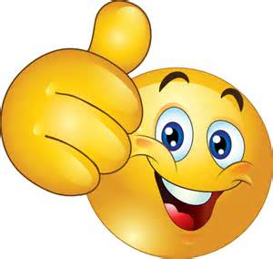 Thumbs up happy smiley emoticon clipart royalty free clipart