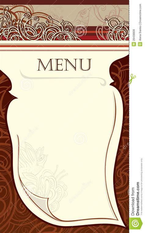 layout per menu ristorante disegno del menu del ristorante immagine di vettore