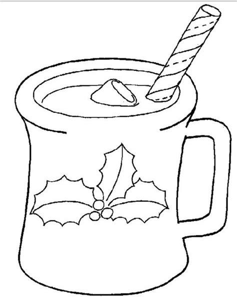 dibujos para pintar de navidad taza de chocolate caliente para navidad para pintar