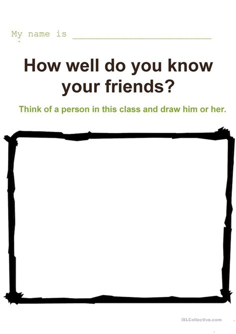 How Well Do You Your by How Well Do You Your Friends Worksheet Free Esl