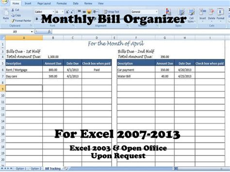 home expense tracker excel template excel bill tracking spreadsheet budget chart template