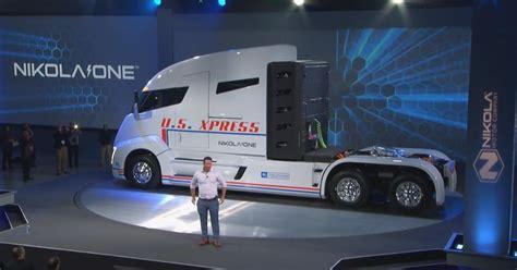 nikola electric semi truck nikola one hydrogen electric semi truck unveiled video
