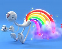 3D Farting Rainbow Wallpaper