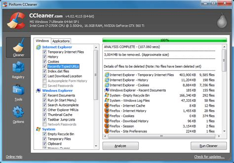 ccleaner good ccleaner 4 02 extends ie 10 support cleans fireworks 6
