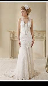 Vintage inspired 1920 s gangster inspired wedding dress pinned by