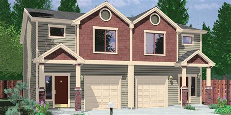 3 bedroom duplex house plans multi family craftsman house plans for homes built in craftsman