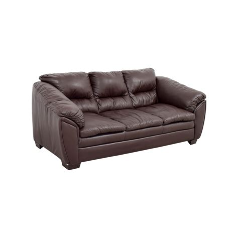 second hand brown leather sofa 68 off brown leather sofa sofas