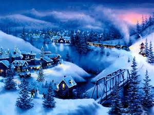 Christmas night landscape christmas tree mountain night landscape