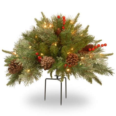 18 inch battery lit christmas tree national tree company 18 in colonial urn filler with battery operated warm white led lights