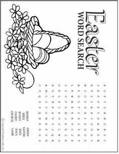 Word search easter