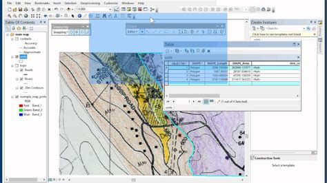 arcgis tutorial for geologists digitising a geological map in arcgis desktop 10 3 part 3
