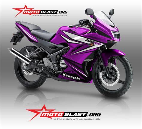 Striping Yamaha Rr 2013 Biruhtam modif striping kawasaki 150rr purple spirit rela ubah