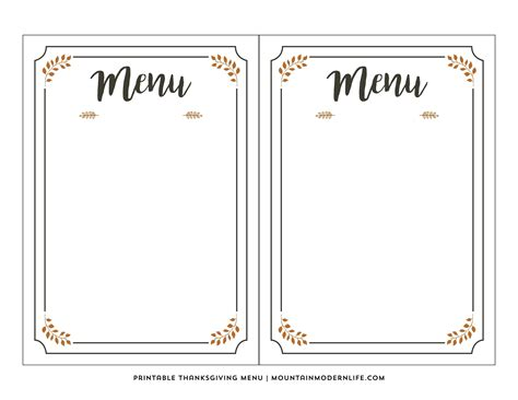 menu template editable menu template free freemium templates