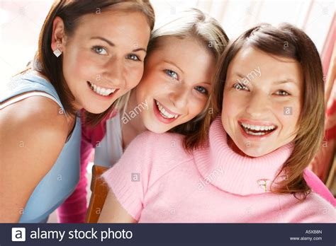 group teen girls laughing portrait of 3 girls laughing stock photo royalty free