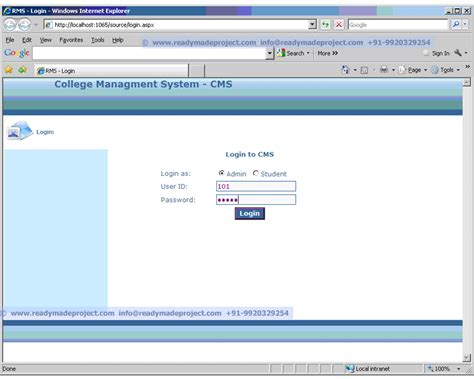 Westminster College Mba Student Portal Login by Free Project Abstract View Demo Of Mca